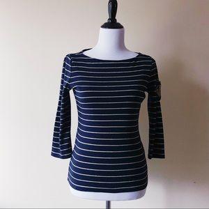 Womens Ralph Lauren Nautical Sailor Knit Top XS
